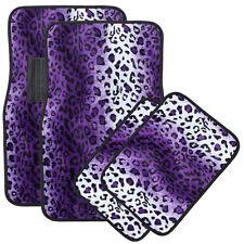 Car Auto Floor Mat for Nissan Altima Purple Safari Leopard Animal Print Carpet