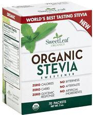 Organic Stevia Sweetener, SweetLeaf, 70 packets