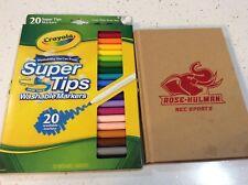 Rose Hulman & Crayola Markers Super Tips 20 ct. Rec Sports Coloring Book New Rh