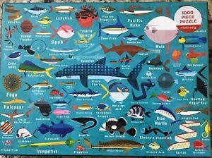 Ocean Life 1000 Piece Jigsaw Puzzle - Mudpuppy