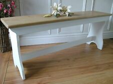 solid pine bench seat shabby chic wooden bench 3 seater