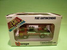 BBURAGO 1509 FIAT ANTINCENDIO - VIGILI DEL FUOCO 1:43- Fiat 50nc  - GOOD IN BOX