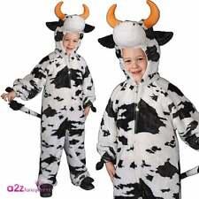 Vaca De Peluche Con Cuernos Niños Infantil Disfraz Elaborado Vestido Natividad Animal Día Del Libro