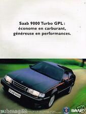 Publicité advertising 1997 SAAB 9000 Turbo GPL