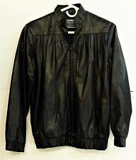 VTG EUC Michael Hoban North Beach Leather Women's Size 7/8 Black Leather Jacket