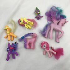 My Little Pony Toys Assorted Lot of 7 Hard Plastic Toys