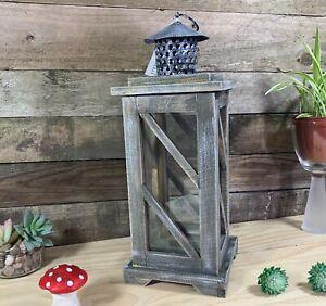Vintage Rustic Wooden Lantern Candle Holder Light Home Decoration Christmas GIFT