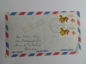 HV STAMPS : IRELAND 1967 CANADA AONTAS FD COVER USED TO ONTARIO