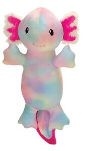 Large Enzo the Axolotl Tie Dye Plush. 19 inches Long. Super Soft. New