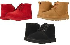 UGG Neumel II Lace Up Boots for kids Chestnut Black Red Suede 100% Original
