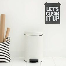 Brabantia 3L White Pedal Bin New Icon Office Toilet Bathroom Bedroom 3 Litre