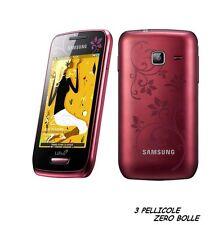 3 Pellicola per Samsung Wave Y S5380 Protettiva Pellicole SCHERMO DISPLAY