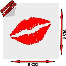 Sticker Adesivo Decal Bacio Smack Lips Labbra Rossetto Lipstick Auto Moto Tuning