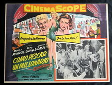 """MARILYN MONROE """"HOW TO MARRY A MILLIONAIRE"""" BETTY GRABLE N MINT LOBBY CARD 1953"""