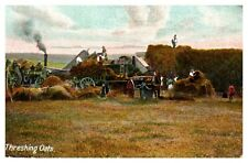 Postcard - THRESHING OATS         ( Ref C31)