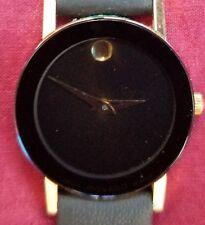 Women's Vtg Movado Sapphire Museum Watch Excellent Swiss Quartz Gold Case Mini