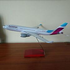 Huge 1/100 Eurowings Airbus A330-200 Airplane Travel Agents Display Model