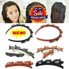 2PCS/1PC Double Bangs Hairstyle Hairpin Magic W/8 clips on the headband new