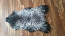 Genuine Sheepskin Rug Scandinavian  rare color  long Wool 100% natural #837