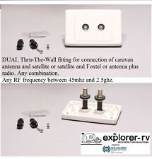 FOXTEL Wall Plate, Ideal for RV Satellite & Foxtel - Caravan Outlet TV wallplate