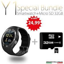SMARTWATCH ANDROID IOS Y1 BLUETOOTH OROLOGIO CON SIM E SLOT MICRO SD Y1 + 32 GB