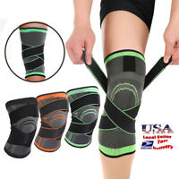 Knee Sleeve Compression Brace Patella Support Stabilizer Sports Gym Joint Pain S