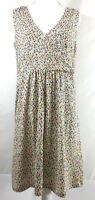 TERRITORY AHEAD womens knit dress LARGE multi-color sleeveless wrap v-neck (E432