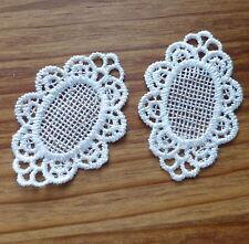 2 pcs Lace patch, applique, scrapbooking embellishment