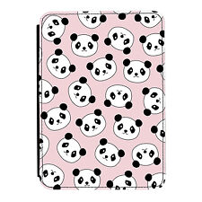 Panda Pattern Animal Pink Kindle Paperwhite Touch PU Leather Flip Case Cover