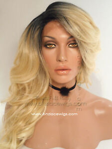 Angel Baby Dark root Blonde Lace front wig, Blonde wig blonde hair blonde lace