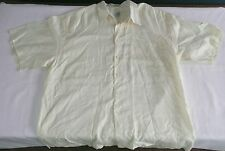 Saks Fifth Avenue Linen Shirts Set of 2 Button Up Short Sleeve Yellow/White XL