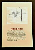 VINTAGE ADVERTISING 1977 Campaign Pitch Poster ~ ROMAN MEAL Knatural Knobs