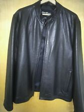 Pre-owned EDDIE BAUER Soft  Leather Jacket Size Large The Color is Black.