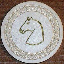 Old HORSEHEAD Casino Poker Chip Vintage Antique Roman Border Mold Circa 1950 EX