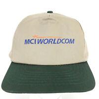 Vtg 90s MCI Worldcom Hat Telephone Internet Logo Snap Back Trucker Baseball Cap