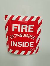 FIRE EXTINGUISHER inside 4x4  SELF ADHESIVE VINYL SIGN