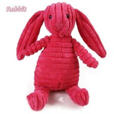 Dog Toy For Rabbit Shape Plush Pet Puppy Squeaky Chew Bite Resistant Accessories