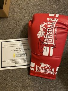 Genuine Hand Signed Joe Calzaghe Boxing Glove Legend Of The Ring With COA