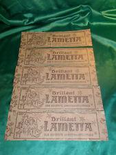 ~ Konvolut 5 Packungen original altes Brilliant Lametta gold Christbaumschmuck
