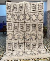 Moroccan Vintage Beni Ourain Rug B2 Handwoven Wool 8ft 9'' x 5ft 4''/ Marmoucha