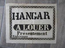 AFFICHE ANCIENNE 1810 hangar a louer presentement PRINTING LITHOGRAPHIE