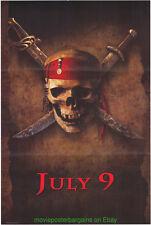 Fluch der Karibik Filmposter Original Advance Wilding1sheet Johnny Depp