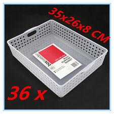 Multipurpose Plastic Basket Organizer Tray A4 Storage Drawer Office Bathroom 6