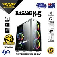 PC Gaming Case Front Tempered Glass ARMAGGEDDON KAGAMI K-5 ATX Computer Tower
