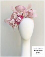 Ladies Pink Tones Fascinator Wedding Races Melbourne Cup