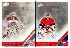 2x UPPER DECK 2011 CAREY PRICE #5 MONTREAL CANADIENS GOALIE PETER BUDAJ #16 LOT