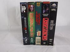 Horror VHS Lot 5 Boogie Man Children of the Living Dead Hunter's Blood Mortuary