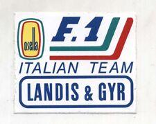 Adesivo Formula 1 OSELLA F1 ITALIAN TEAM Landis & Gyr sponsor sticker anni 80