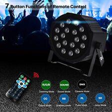 1x PAR Can DJ Stage Lighting 18 LED RGB DMX512 Club Party Show Disco Lights