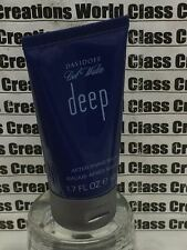 2 X COOL WATER DEEP FOR MEN BY DAVIDOFF -1.7 OZ EACH AFTER SHAVE BALM - NO BOX